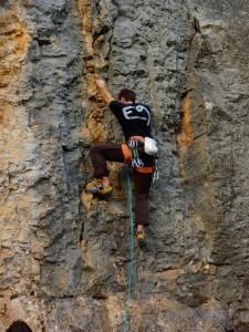 Escalade en Ardèche, à Balzuc, Cordévasion