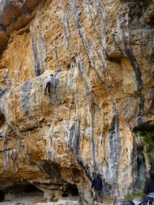 stage escalade performance en falaise avec Cordévasion