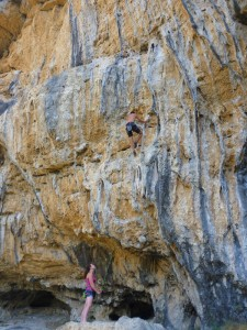 Stage escalade performance Buis les Baronnies aout 2012