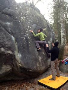Stage escalade Fontainebleau-cordevasion