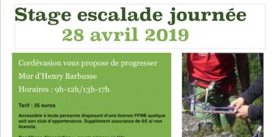STAGE JOURNÉE 28 avril 2019 MANIP DE CORDE et PROGRESSION
