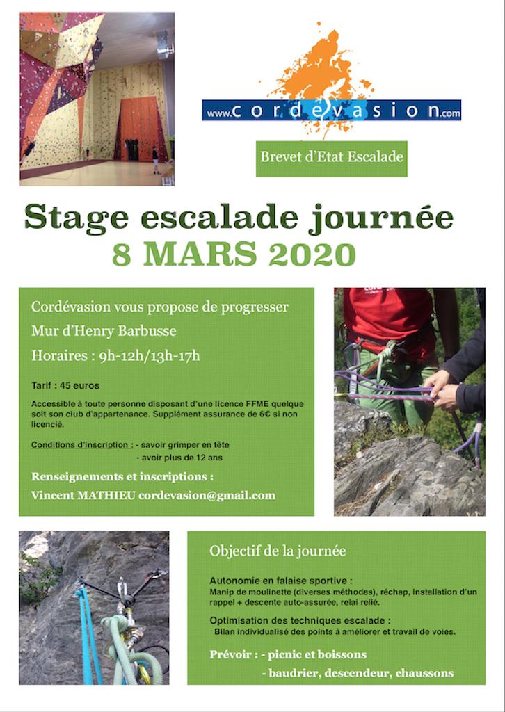 Stage-escalade-journée-8/03/2020